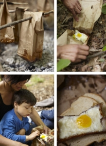 campfire eggs and bacon from cooking in the moment book by andrea reusing