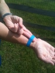 Athlete Wristband Fit Trick