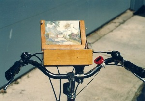 Dad's Easel on a Bike